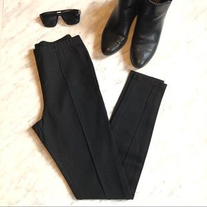 America Apparel Black High Waisted Pleated Pant
